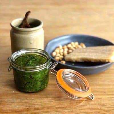 Pesto | Veg Box Recipes with Basil & Tom's